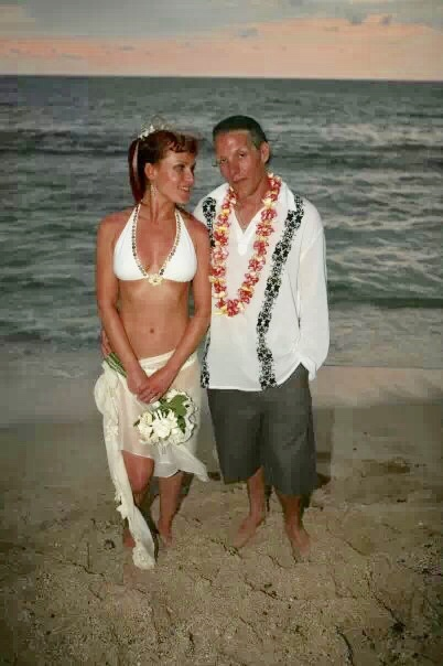 We wed on the beach in Kona in 2007.